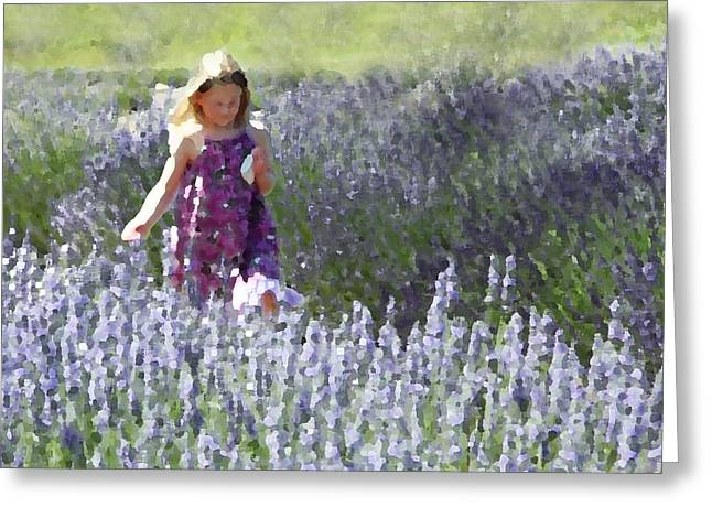 Stroll Through the Lavender Greeting Card by Brooke Ryan