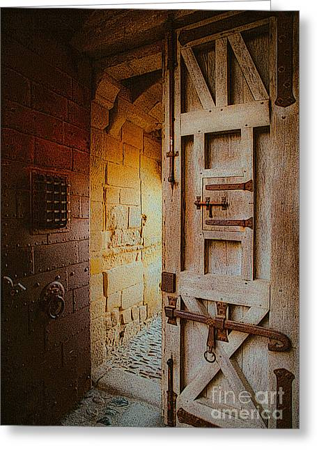 Chateau Greeting Cards - Strong Door Greeting Card by Vance Fox