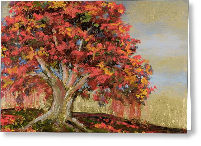 Tree Roots Paintings Greeting Cards - Strong Roots Greeting Card by Vic  Mastis