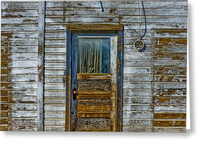 Old Door Greeting Cards - Structure.2387 Greeting Card by Gary LaComa