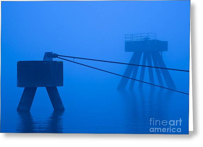 Structures Along Port Greeting Card by David Buffington
