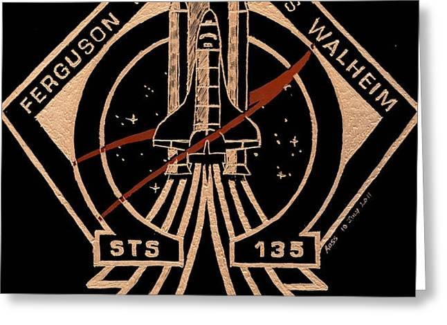 STS-135 One Last Time Greeting Card by Jim Ross