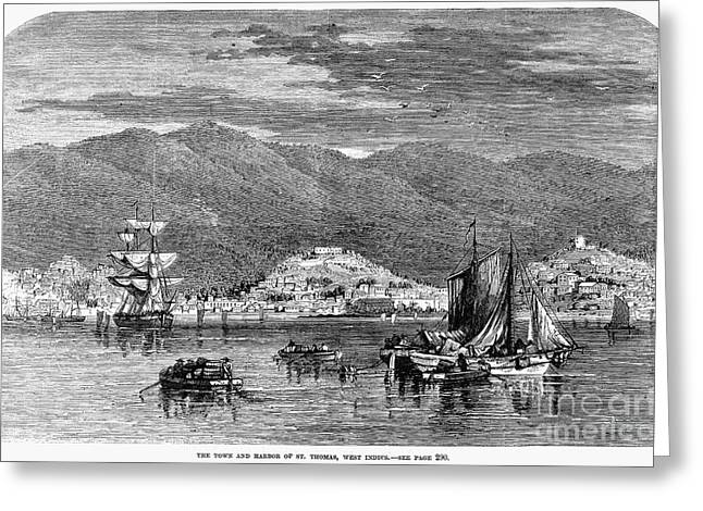 Charlotte Greeting Cards - St.thomas, 1868 Greeting Card by Granger