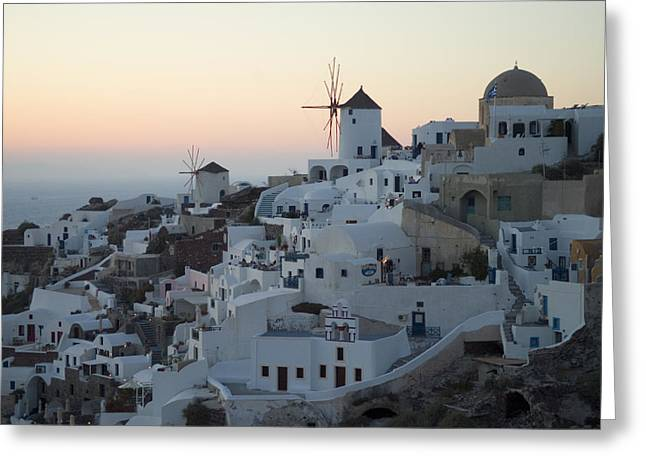 Art Of Building Greeting Cards - Stuccoed Houses And Windmills Greeting Card by Richard Nowitz