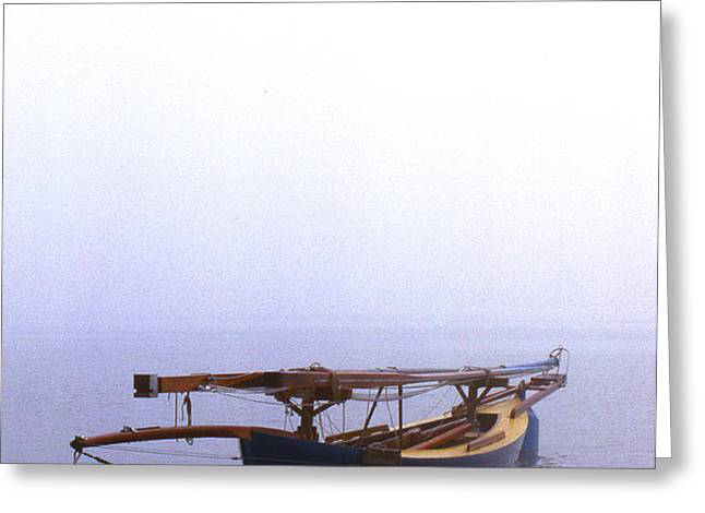STUCK IN PORT Greeting Card by Skip Willits