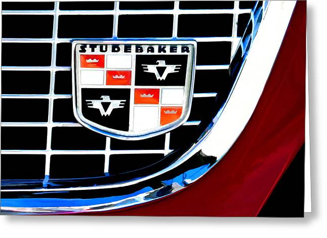 Studebaker Badge Greeting Card by Douglas Pittman