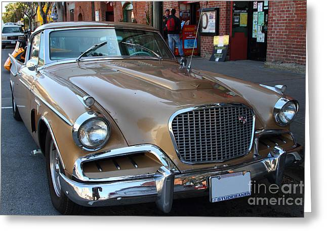 Studebaker Golden Hawk Greeting Cards - Studebaker Golden Hawk . 7D14179 Greeting Card by Wingsdomain Art and Photography