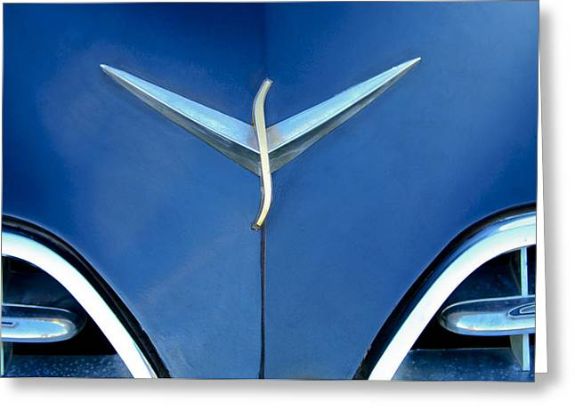 Studebaker Hood Emblem Greeting Card by Jill Reger