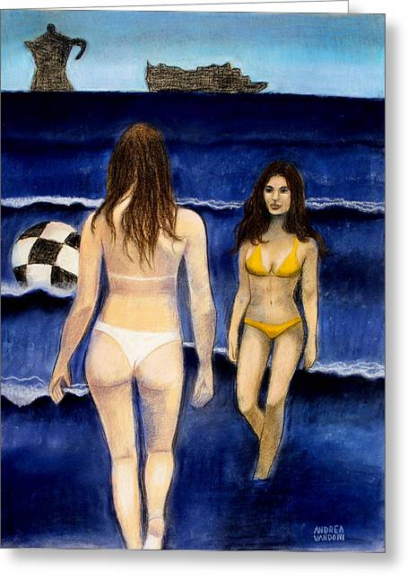 Bikinis Pastels Greeting Cards - Studio 106 Greeting Card by Andrea Vandoni