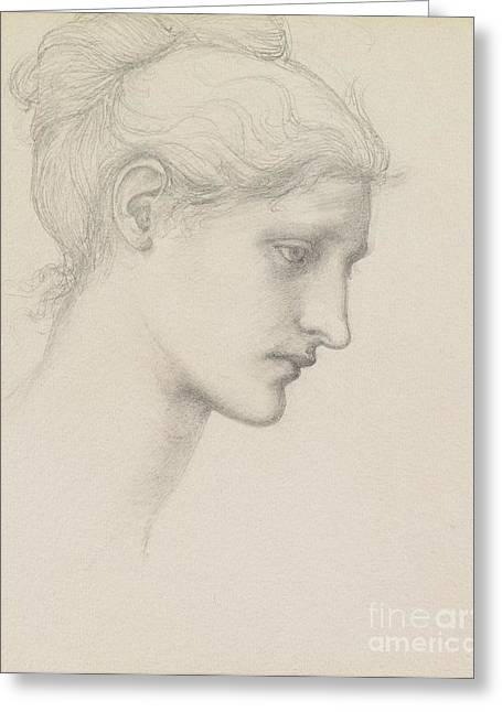 Burne Greeting Cards - Study for Laus Veneria Greeting Card by Sir Edward Burne Jones