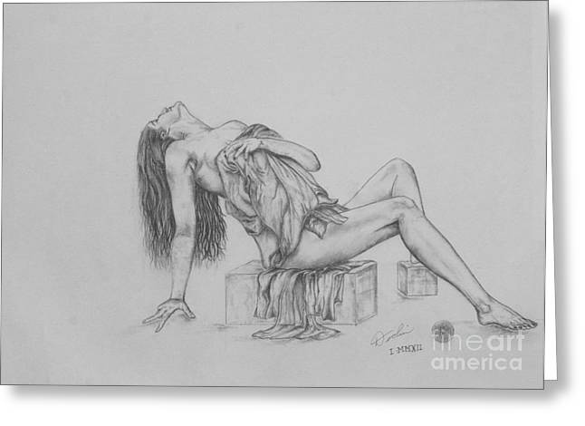 Partially Naked. Nude Greeting Cards - Study III Greeting Card by Christopher Keeler Doolin