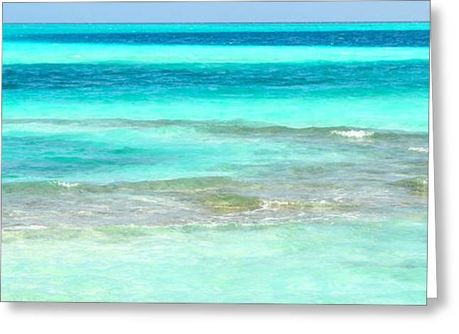 Beach Greeting Cards - Study in Blue Greeting Card by Corinne Rhode
