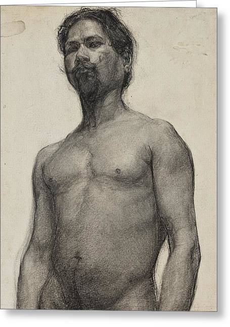African American Drawings Greeting Cards - Study of a Negro Man Greeting Card by Henry Ossawa Tanner