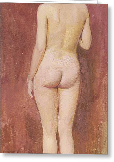 Posterior. Greeting Cards - Study of a nude Greeting Card by Murray Bladon