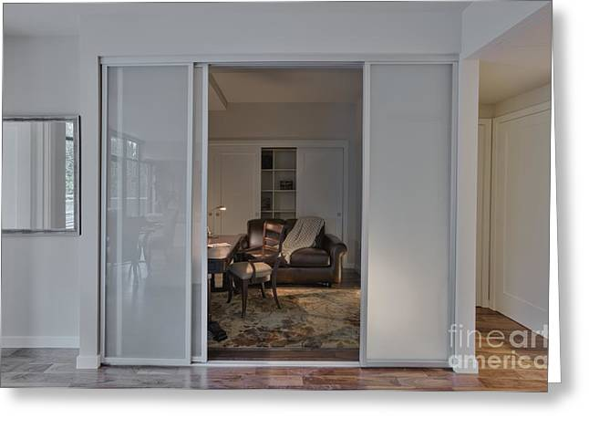 """""""sliding Doors"""" Greeting Cards - Study with Open Door Greeting Card by Andersen Ross"""