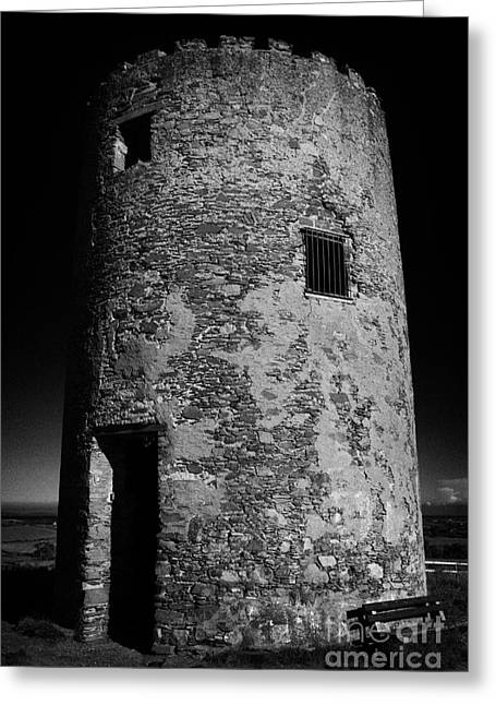 Stump Remains Of Portaferry Windmill On Windmill Hill Portaferry Ards Peninsula County Down  Greeting Card by Joe Fox