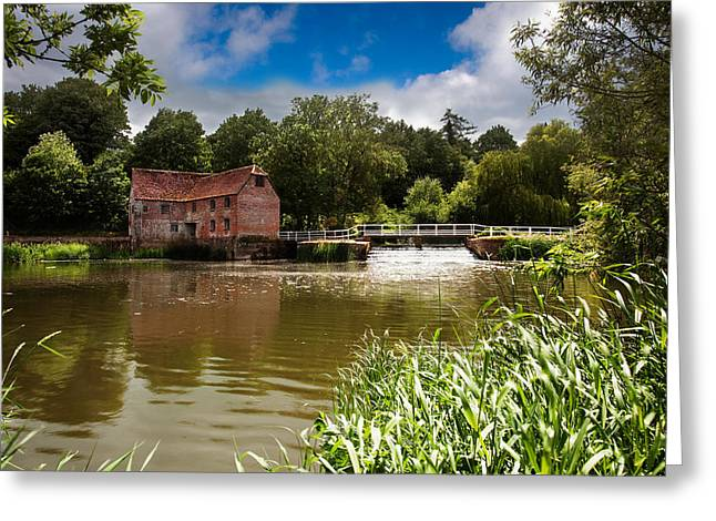 Flour Greeting Cards - Sturminster Mill Greeting Card by Kris Dutson