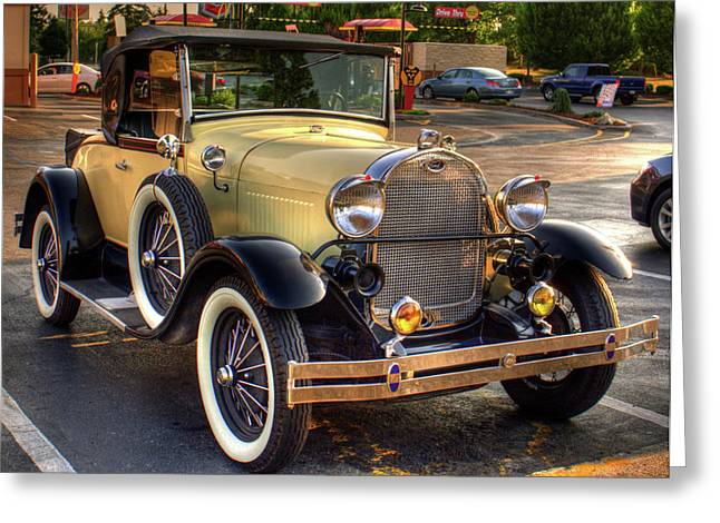 Ford Model T Car Greeting Cards - Stylin At The Macdonalds Greeting Card by Lawrence Christopher