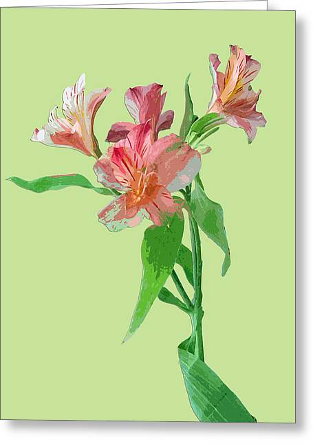 Interior Still Life Digital Art Greeting Cards - Stylish Florals Greeting Card by Karen Nicholson