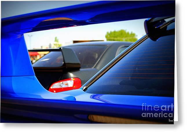 Blue Subaru Greeting Cards - Subaru Impreza WRX STI Greeting Card by Bonae VonHeeder