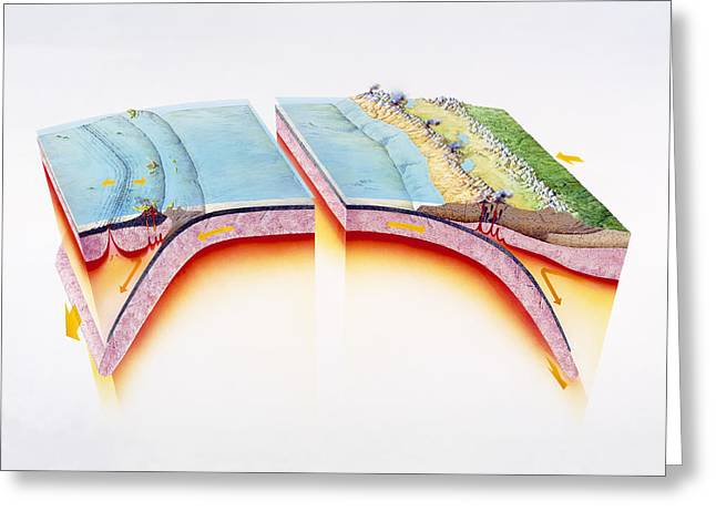 Moving Away Greeting Cards - Subduction Greeting Card by Gary Hincks