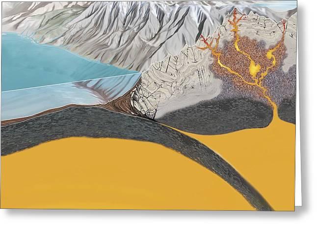 Boundary Waters Greeting Cards - Subduction Zone Processes Greeting Card by Jose Antonio PeÑas