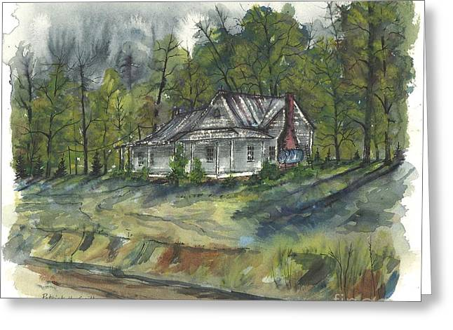 Old School Houses Paintings Greeting Cards - Suber Home Greeting Card by Patrick Grills