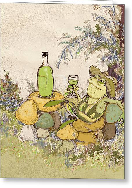 Toadstools Mixed Media Greeting Cards - Sublime Chablis Greeting Card by Peggy Wilson