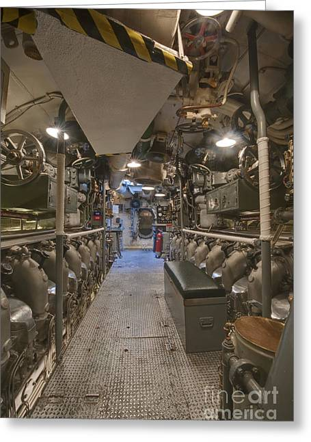 Hawii Greeting Cards - Submarine Engine Room Greeting Card by Rob Tilley