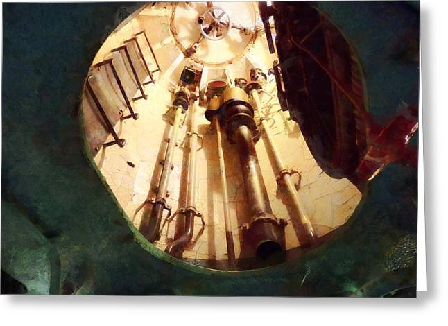 Steam Punk Greeting Cards - Submarine Escape Hatch Greeting Card by Susan Savad