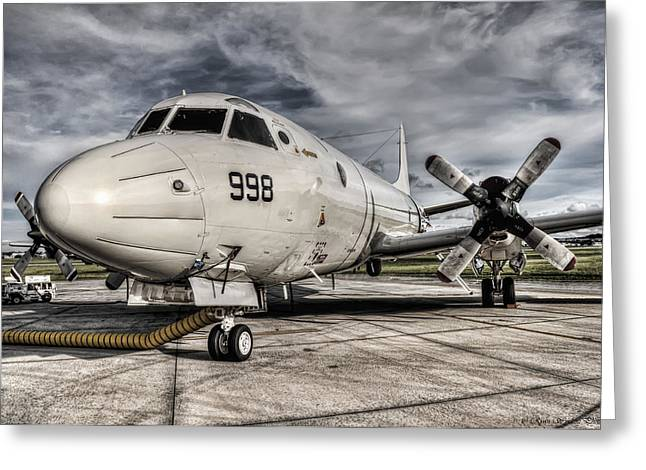 Propeller Photographs Greeting Cards - Submarine Hunter Greeting Card by Ryan Wyckoff