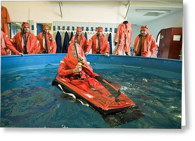 21st Greeting Cards - Submarine Rescue Unit Training Greeting Card by Alexis Rosenfeld