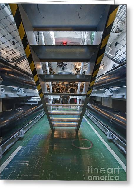 Hawii Greeting Cards - Submarine Torpedo Room Greeting Card by Rob Tilley