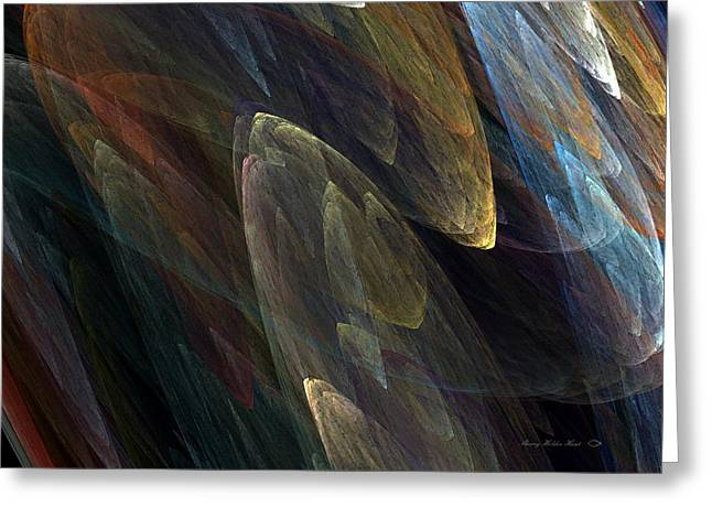 Subtle Colors Greeting Cards - Subtle Abstract Greeting Card by Sherry Holder Hunt