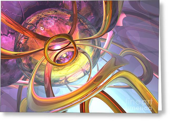 Ruse Greeting Cards - Subtlety Abstract Greeting Card by Alexander Butler