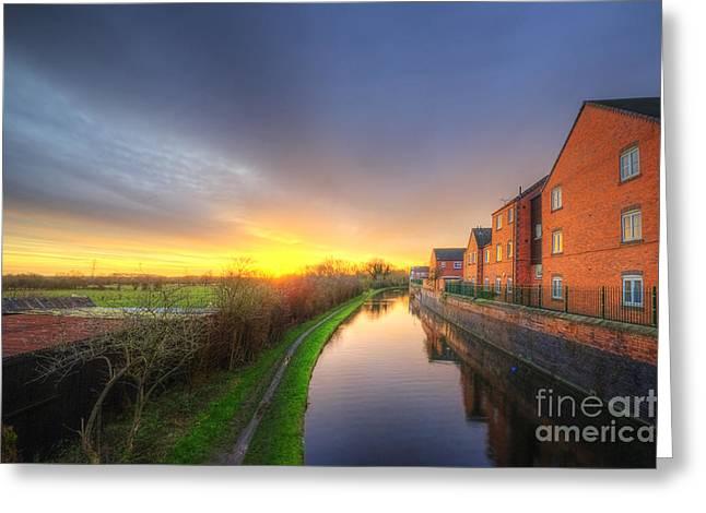 Sunset Framed Prints Greeting Cards - Suburban Sunrise 8.0 Greeting Card by Yhun Suarez