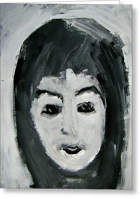 Worn In Paintings Greeting Cards - Such a Good Little Girl Greeting Card by Judith Redman