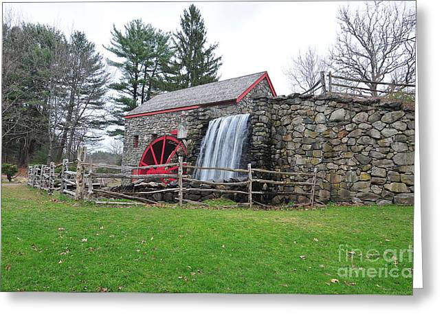 """wayside Grist Mill"" Greeting Cards - Sudbury Grist Mill Greeting Card by Catherine Reusch  Daley"