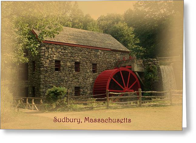 Sudbury Grist Mill Greeting Card by Patricia Urato