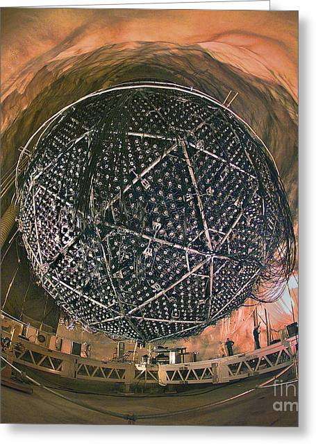 Sudbury Greeting Cards - Sudbury Neutrino Observatory Sno Greeting Card by Science Source