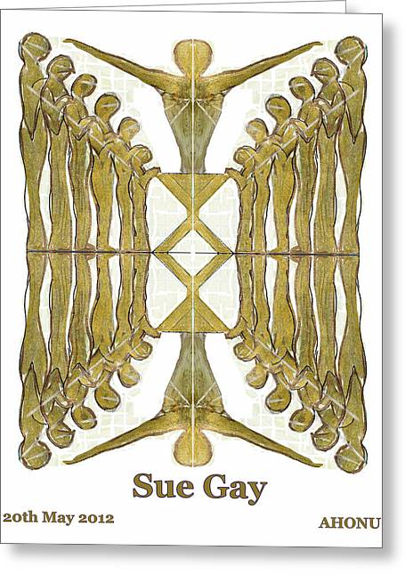 Geometric Image Greeting Cards - Sue Gay Greeting Card by Ahonu