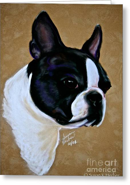 Breed Study Pastels Greeting Cards - Suedes Grandson Greeting Card by Susan Herber