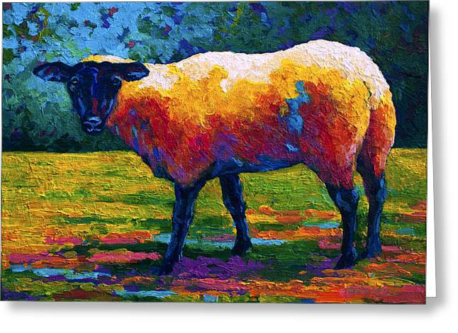 Abstract Animal Greeting Cards - Suffolk Ewe III Greeting Card by Marion Rose