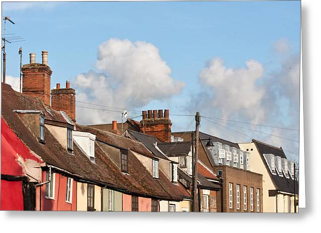Gutter Greeting Cards - Suffolk Rooftops Greeting Card by Tom Gowanlock