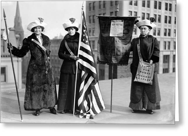 Rally Greeting Cards - SUFFRAGETTES, c1910 Greeting Card by Granger