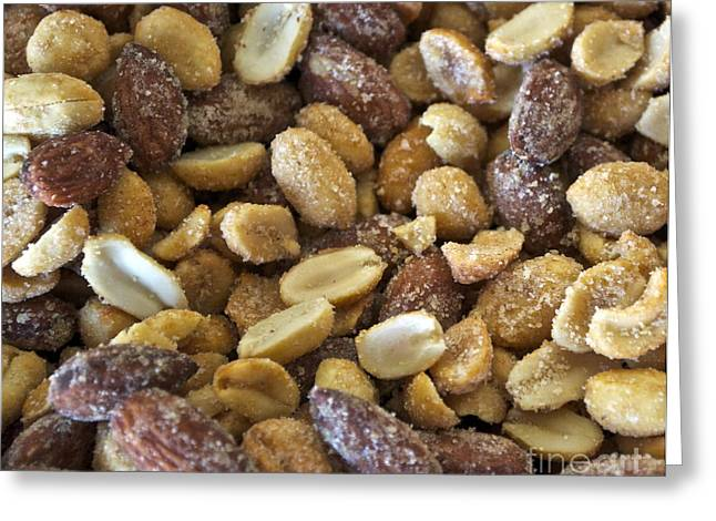 Sugar Coated Mixed Nuts Greeting Card by Gwyn Newcombe