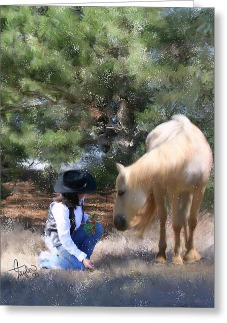 Cowgirl And Cowboy Greeting Cards - Sugar n Spice Greeting Card by Colleen Taylor