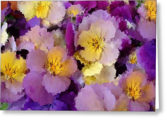 Wife Digital Art Greeting Cards - Sugared Pansies Greeting Card by Georgiana Romanovna