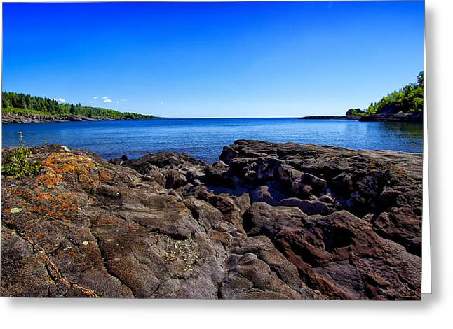 North Shore Greeting Cards - Sugarloaf Cove From Rock Level Greeting Card by Bill Tiepelman