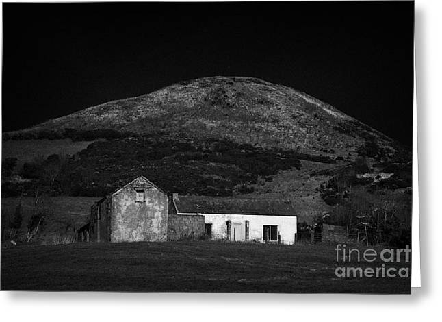 Outbuildings Greeting Cards - Sugarloaf Hill Sturgan Brae South Armagh Northern Ireland Greeting Card by Joe Fox